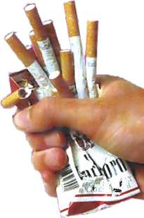how to stop smoking cigarettes crushed cigarette pack