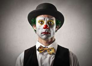 sad clown hypnosis for depression